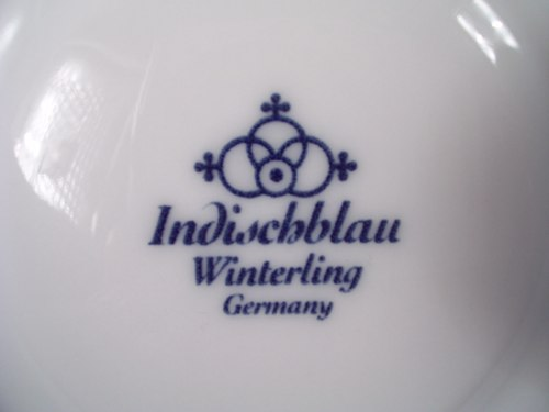 Ragoutfinschale Würzfleisch Winterling indischblau indisch blau