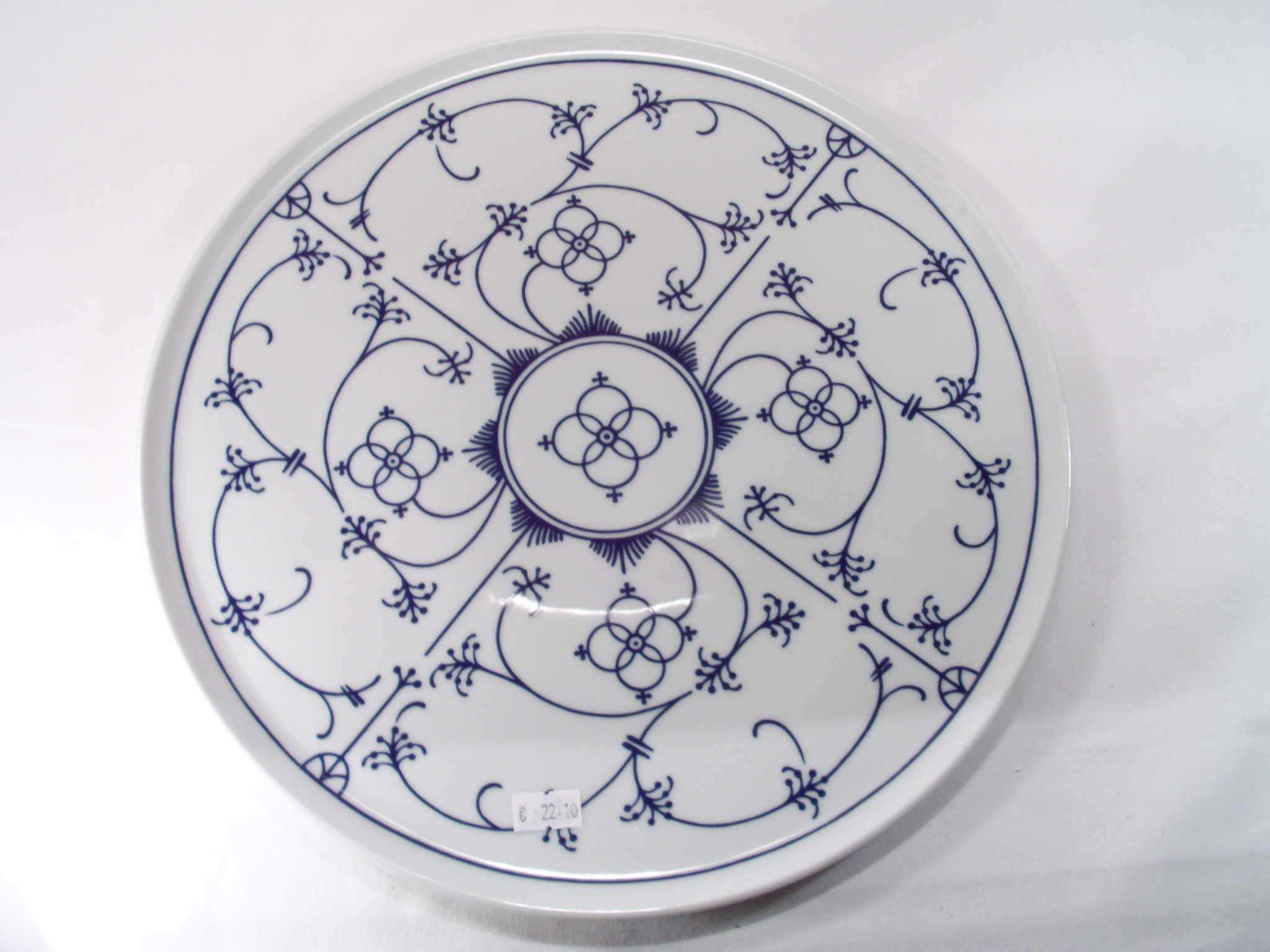 Tortenplatte Porzellan 33 cm Winterling indischblau indisch blau ...