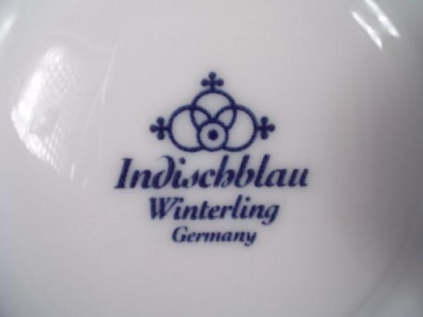 Indisch Blau Winterling Porzellan Untere //Untertasse Ø 14 cm